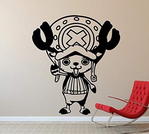 Chopper Moose Anime personaje vinilo adhesivo para pared | utensilios de cocina arte de pared en cocina restaurante decoración de refrigerador
