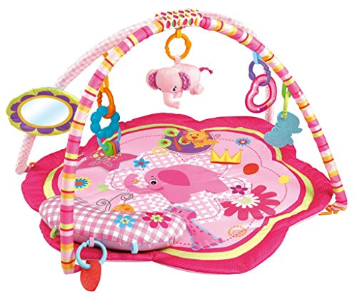 EMILYSTORES Pink Baby Acctivity Play Gyms Playmats, Elephant