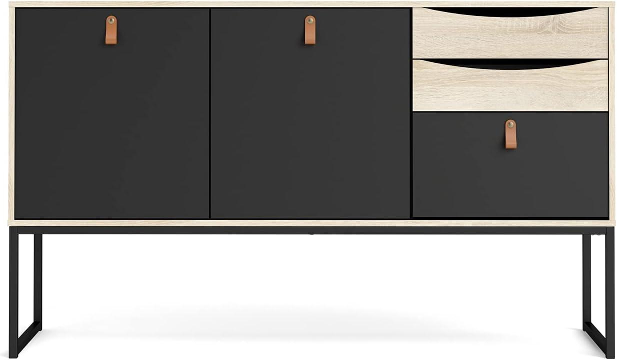 Tvilum Black Matte and Discount is also underway Oak Structure 2 Sideboard Stubbe Purchase wi Door