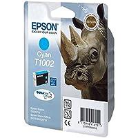 Epson C13T10024010 - Cartucho de tinta cian válido para los modelos Stylus y Stylus Office SX610FW, SX600FW, SX515W, SX510W, BX310FN, B40W, B1100 y otros, Ya disponible en Amazon Dash Replenishment