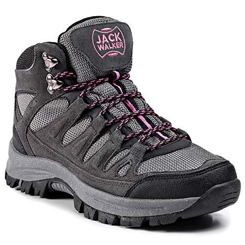 Jack Walker damskie buty trekkingowe Hike wodoszczelne, oddychające, lekkie buty JW1005 (39 EU)