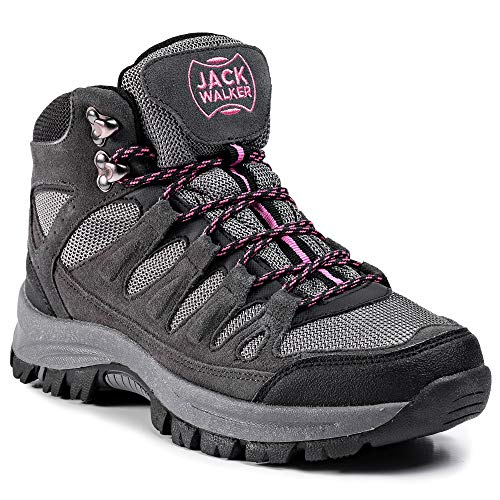 Jack Walker Women's Waterproof Hiking Boots Lightweight High Rise Trekking...