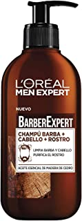 L'Oréal Paris Men Expert - Barber Club Champú 3 en 1 para barba, cabello y rostro - pack of 2 x 200 ml