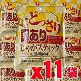 訳ありじゃがスティック チーズ&黒胡椒味 230gx11袋 (4946763064629)