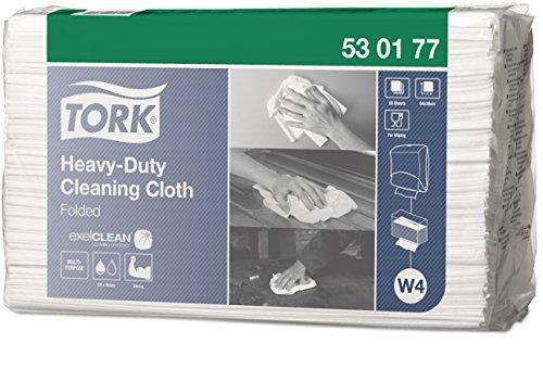 Tork 530177 Weiß Extra Starke Reinigungstücher, 1-Schicht, Premium-Qualität, 1 x 60 Tücher