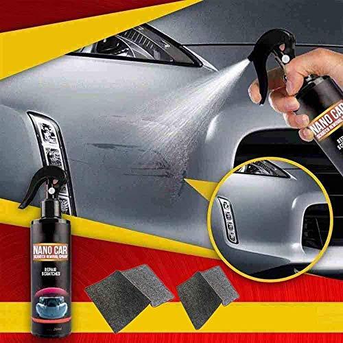 Sourwindp Neues 250 ml Nano Car Scratch Removal Spray mit 2-teiligem Nano Magic Cloth - Schnelle Reparaturkratzer für Autos für alle Karosserien