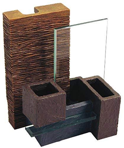 Fluval Enfeite de aquário EDGE de parede de bambu com cestas de plantas