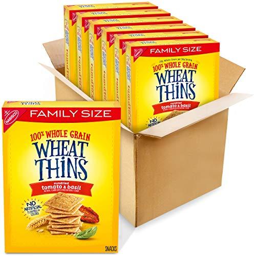 Wheat Thins Whole Grain Crackers Family Size 13 Oz, Boxes 6, Sundried Tomato & Basil, 6 Count -  AmazonUs/MOQ4F