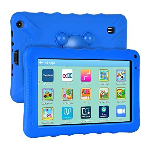 Xgody Kids Edition Tablet, 9-Zoll-HD, Kindersicherung, Für die Internet Cloud Klasse, Android 6.0, 16 GB, Quad Core, Blau kindgerechte Hülle
