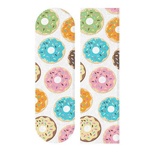 MNSRUU Skateboard-Griffband mit niedlichem Donut-Motiv, Schleifpapier, 22,9 x 83,8 cm