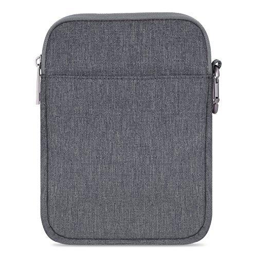MoKo 6-Pulgadas Funda de Fieltro - Portátil Sleeve Bag Nilón Maletín Cover Case - Gris Oscuro