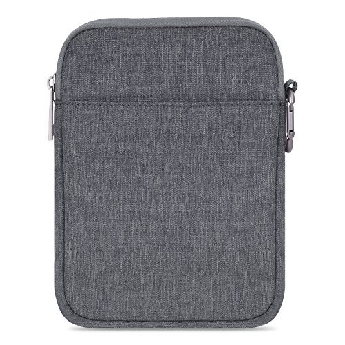 MoKo Kompatibel mit Kindle 10. Generation 2019 / Kindle Paperwhite/Kindle Voyage Sleeve Hülle, Tragbare Nylon Schutzhülle Tasche für Kindle Oasis/Kindle 8. / HD 6 6 Zoll, Dunkelgrau