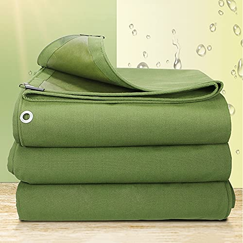 WMEIE Lonas Impermeables Exterior, Cubierta Impermeable Resistente De La Lona De Los Muebles De La Lona para Acampar Al Aire Libre del Barco del Coche,Verde,4x4m