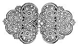 Dirndlschürzenschließe mit Blumen Ornamenten - Silber - Trachtenschnalle Dirndlschürzenverschluss Schürzenklammer