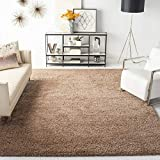 Safavieh Milan Shag Collection SG180-1414 2-inch Thick Area Rug, 8' x 10', Dark Beige