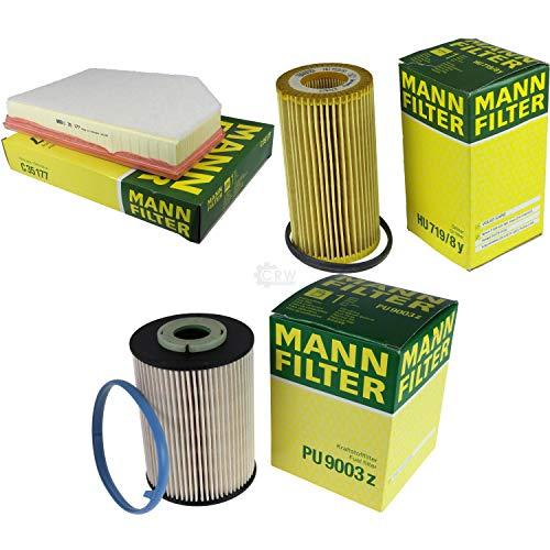 Preisvergleich Produktbild MANN-FILTER Inspektions Set Inspektionspaket Luftfilter Ölfilter Kraftstofffilter