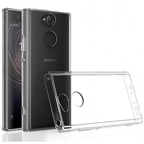 REY Funda Carcasa Gel Transparente para Sony Xperia XA2, Ultra Fina 0,33mm, Silicona TPU de Alta Resistencia y Flexibilidad