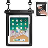 Weuiean Waterproof Bag Case for iPad 8th/7th/6th/5th/4th Generation 10.5/10.2/9.7, iPad Air 1/2/3, iPad Pro with Lanyard for iPad/Samsung Galaxy Tab 9.7 Inch, Tablets Dry Bag Pouch - Black