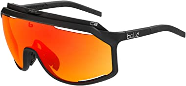 Sport Sunglasses Chronoshield Matte Black Phantom Brown Red