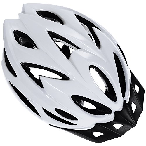Zacro Lightweight Bike Helmet, Adult Cycle Helmet Adjustable Size for Adult with Detachable Liner and a Headband, White Helmet