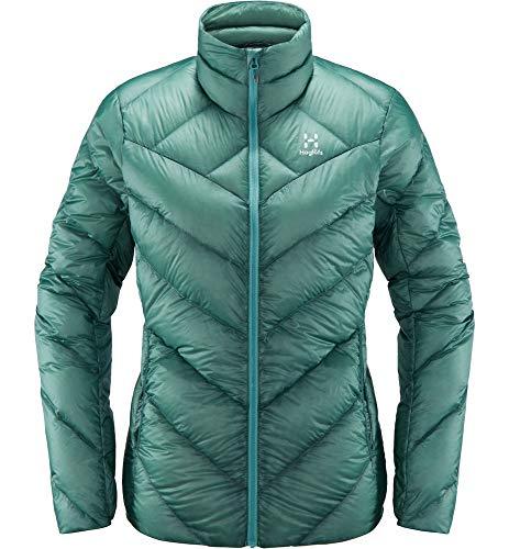 Haglöfs Winterjacke Frauen Outdoorjacke L.I.M Essens Wärmend, Atmungsaktiv, Kleines Packmaß, Wasserabweisend Glacier Green S S