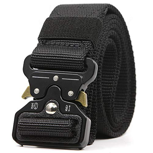 Tactical Belt for Men Military Style Heavy Duty Belt with Quick Release Adjustable Premium Quality Metal Buckle