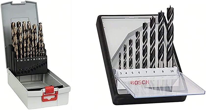10 x 5 mm professionnel forets HSS-Co COBALT-Métal Plastique Bois