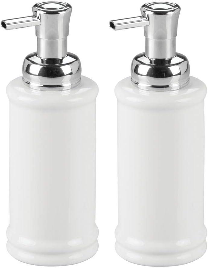 mDesign Decorative Ceramic Refillable Foaming low-pricing Hand Dispense Soap Boston Mall