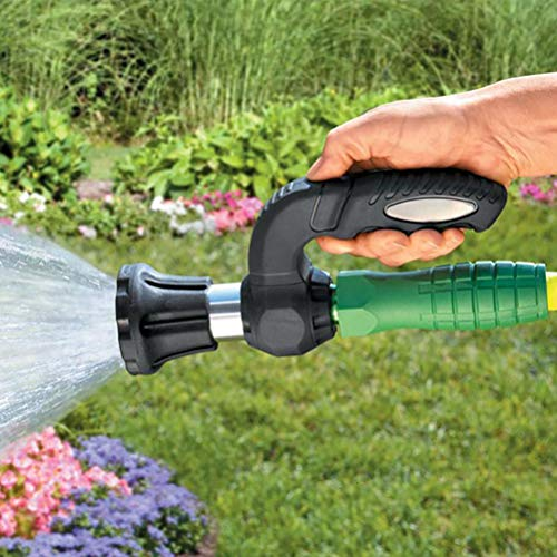 Vssictor Garden Hose Nozzle Water Gun Powerful Power Hose Blaster Garden Sprayer Fireman Nozzle Powerful Adjustable Spray Nozzle for Washing Garden Lawn Cars