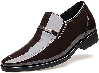 Chaussures de loisirs, Chaussures en cuir, Chaussu Richelieus for les hommes d'affaires Casual Mocassins Slip On Toe Paten...