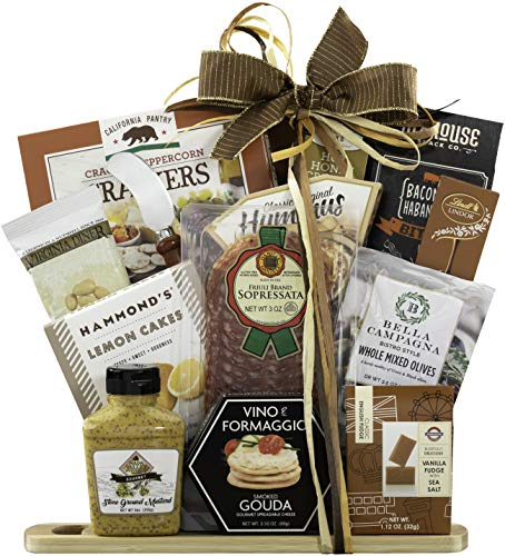 Wine Country Gift Baskets Gourmet Cheese and Salami Gift, Gourmet Food