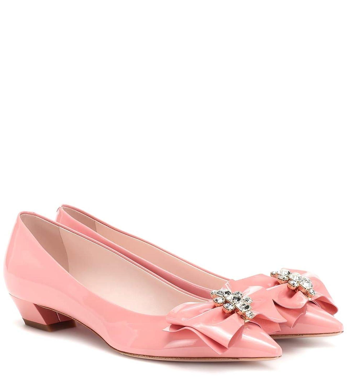 [ロジェ ヴィヴィエ] レディース シューズ 靴 パンプス フラット Bow Jewels patent leather pumps (並行輸入品)