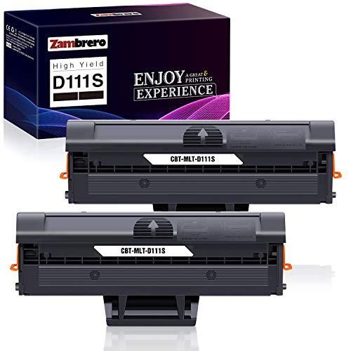 Zambrero MLT-D111S D111S Cartucho Tóner Compatible para Samsung Xpress SL-M2070W SL-M2026 SL-M2070 SL-M2026W SL-M2022...