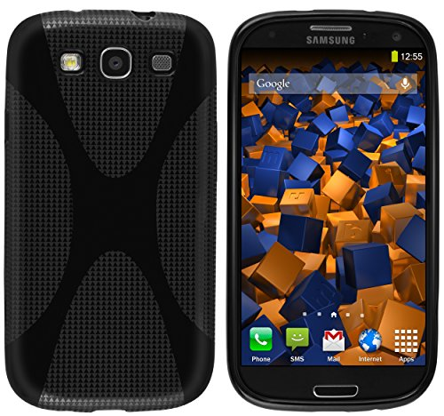 mumbi Custodia in X-TPU compatibile con Samsung Galaxy S3 (i9300)/S3 Neo, nero