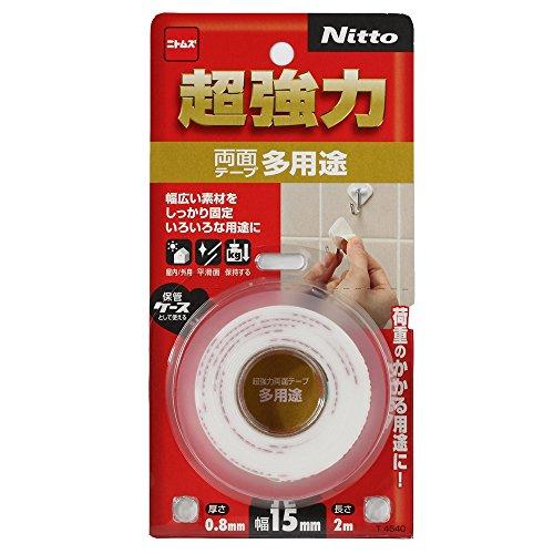 ニトムズ 超強力両面テープ 多用途 15mm×2M T4540