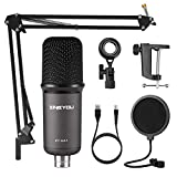 ZINGYOU USB Microphone Bundle ZY-UA1 PC Laptop Recording Condenser Mic Kit for Podcasting Gaming Streaming YouTube on macOS and Windows with Adjustable Scissor Arm Metal Shock Mount Pop Filter(Gray)