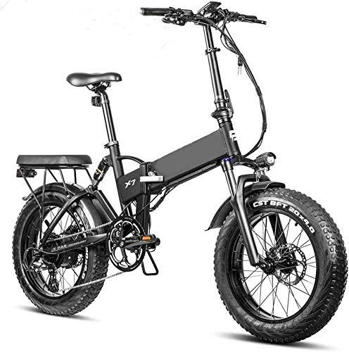 Bicicletta Elettrica Freni elettrico pieghevole Fat Tire Bike 20 pollici  4.0 rimovibile batteria al litio Beach bici elettrica Professional 8 Velocità for adulti 750w idraulici biciclette Full Suspe
