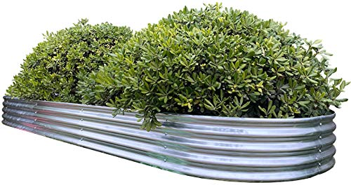 Oval Metal Raised Garden Bed Planter