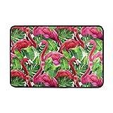 Eastery Bunte Rosa Flamingo Fußmatte Eintrag Weg Indoor Outdoor Tür Teppich Einfacher Stil Mit Rutschfesten Rücken (23,6 X 15,7 Zoll) (Color : Colour, Size : Size)