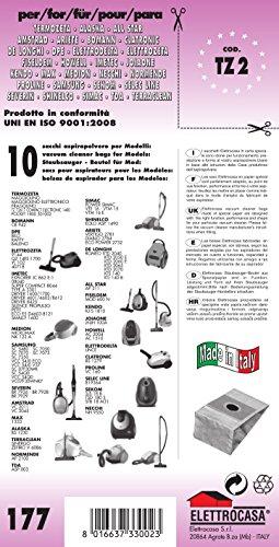 TZ 2 sacchetti per aspirapolvere confezione da 10 sacchi carta