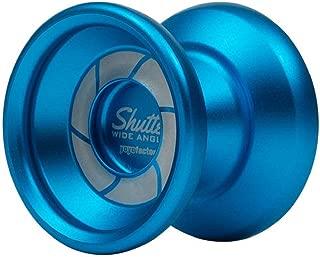 YoYoFactory Wide Angle Shutter Yo-Yo Blasted Aluminum Finish (Aqua)