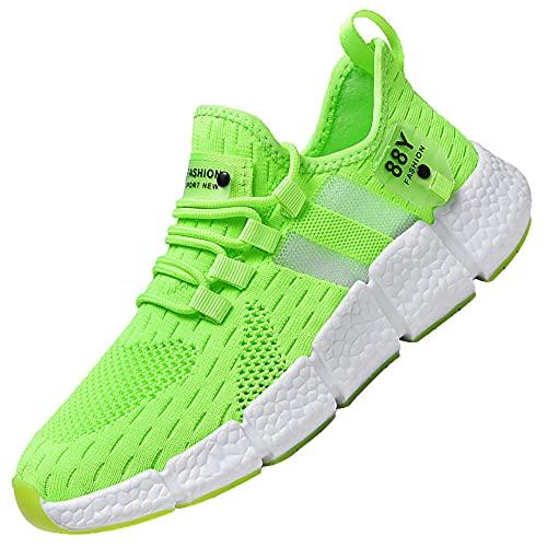 Zapatillas De Running Hombre,Deportivas Transpirables Casual MontañA,Green_41