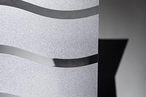 Statische raamfolie Wave in 90 cm breedte privacy film (meter)