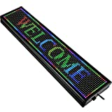 VEVOR Led Sign 40 x 8 inch Led Scrolling Message Display RGB 7-Color P10 Digital Message Display Board Programmable by PC& WiFi & USB with SMD Technology for Advertising and Business