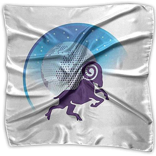 PQU Awesome Head Wrap,Icône De Globe Recouvert D'Étoiles Énergie Cosmique Abstrait Bandeau Magique De Chèvre pour Courir Le Camping d'escalade 100x100cm