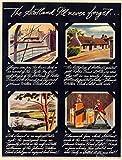 WJY Vintage Alcohol Vino Cerveza Cartel Johnnie Walker Etiqueta Negra Lienzo clásico Pinturas Carteles de Pared Pegatinas decoración del hogar Gift 40cm x60cm Sin Marco