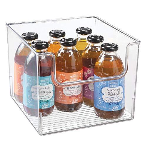 mDesign Contenitori da frigo per alimenti – Scatola da cucina in plastica senza BPA con apertura – Organizer frigorifero – trasparente