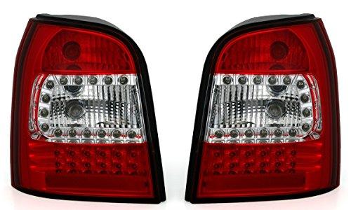 Eagle Eyes LED Rückleuchten Set in Klarglas Rot Weiß