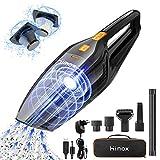 HIMOX Aspirador de Mano Sin Cable, 8000Pa/120W/2500mAh, Aspiradora de Coche Recargable, USB/Enchufe Carga Rápida, 2 Filtro HEPA, 5 Accesorio Completo y Bolsa de Transporte para Hogar, Oficina