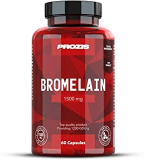 Prozis Bromeline 500 gelules Complement Extraorinaire pour Regime Haute Teneur Proteines Stimule Digestion des Proteines l Absorption